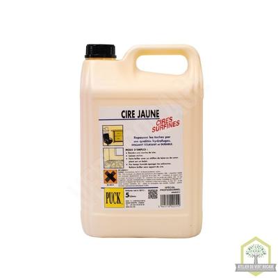 Cire liquide jaune à la cire d'abeille - Bidon de 5 L