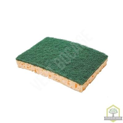 Eponge végétale à récurer verte usage courant grand modèle