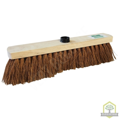 Balai coco extra 40 cm bois ponce douille