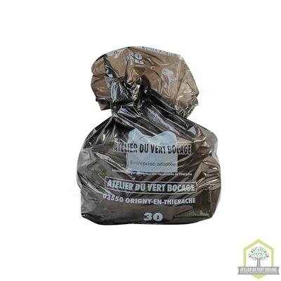Sac poubelle plastique 30 L 30 microns noir