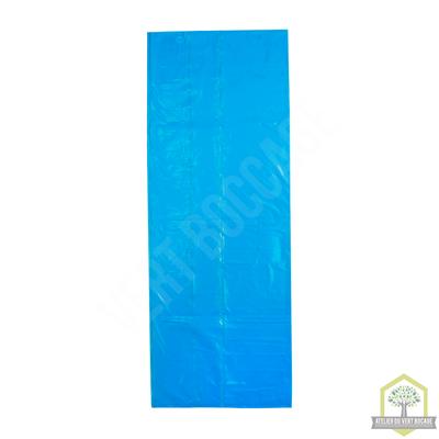 Sac poubelle plastique 30 L 30 microns Bleu
