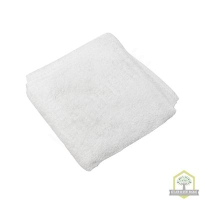 Serviette de toilette éponge 100% coton blanc 50x100 cm