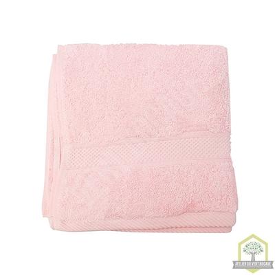 Serviette de toilette éponge 100% coton rose 50x100 cm