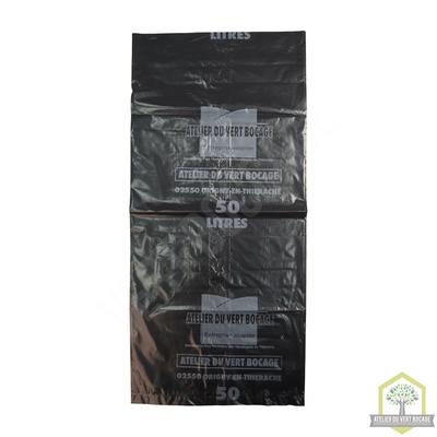 Sac poubelle plastique 50 L 40 microns noir