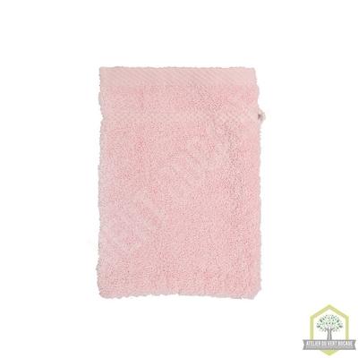 Gant de toilette 100% coton rose 15x20 cm