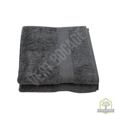 Serviette essuie-mains éponge 50x100 cm -Gris Foncé