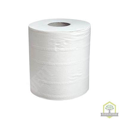 Rouleau essuie-main blanc dévidage central 450 fmts