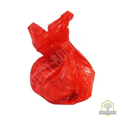 Sac poubelle plastique 50 L 30 microns rouge