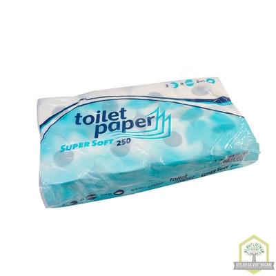 Papier Toilette extra blanc - 3 plis - 250 feuilles