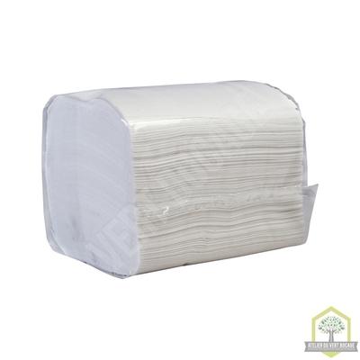 Papier Toilette extra blanc plié -2 plis - 11 x 17 cms - 250 feuilles