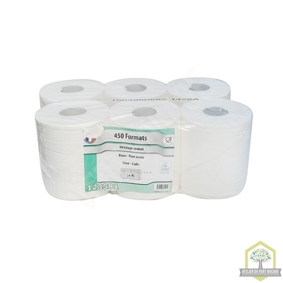 Papier Toilette extra blanc - 2 plis - longeur 180 m