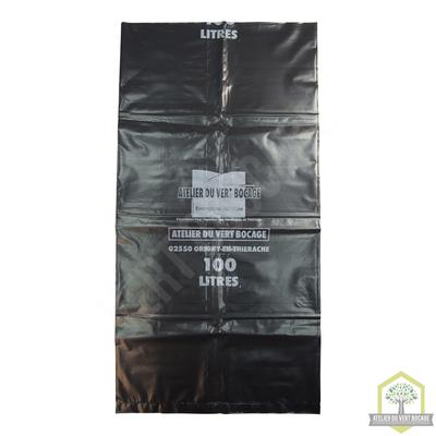 Sac poubelle plastique 100 L 70 microns noir