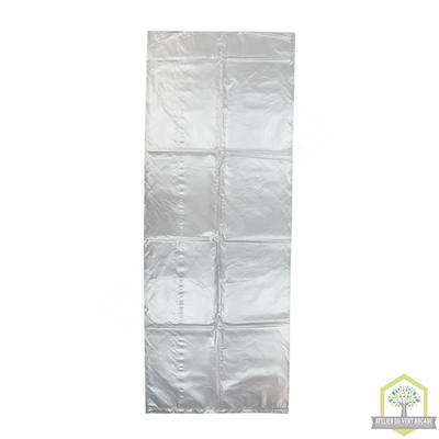 Sac poubelle plastique 100 L 50 microns transparent