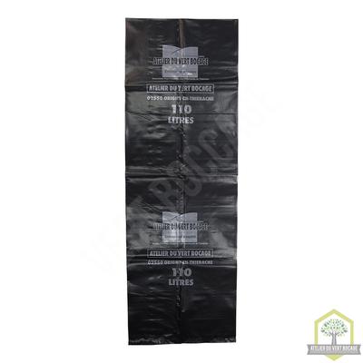 Sac poubelle plastique 110 L 80 microns noir