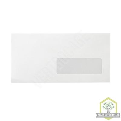 Enveloppe Vélin Blanc 80 g 110 x 220  - avec fenêtre 35 x 100 ou 45 x 100