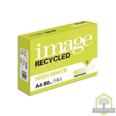 Papier Extra Blanc Premium A4 RECYCLE 80 g/m² Copy / Laser / Inkjet - Ramette de 500 feuilles