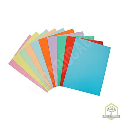Papier Couleur A4 120 g/m² (Coloris assortis ou uni) - Ramette de 250 feuilles