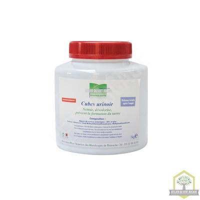 Pastilles urinoir nettoyantes, désodorisantes et détartrantes -  Boite de 1 kg  (40 pastilles)