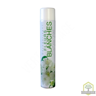 Désodorisant d'atmosphère  Fleurs Blanches - Aérosol 750 ml