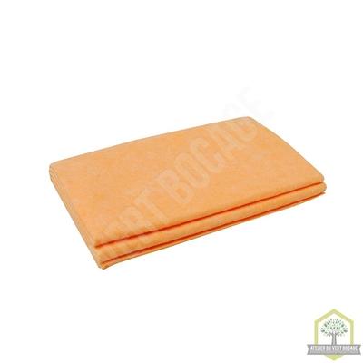 Serpillière intissée orange 50x60 cm - Sachet de 2